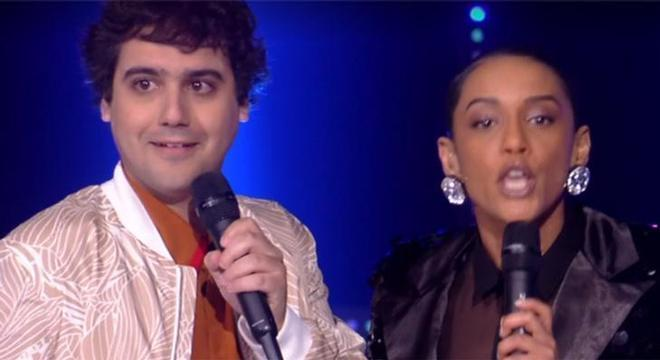George Sauma e a apresentadora Taís Araújo