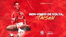 Internacional anuncia a volta do atacante Taison