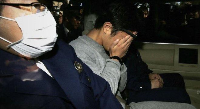 Takahiro Shiraishi após sua prisão em 2017