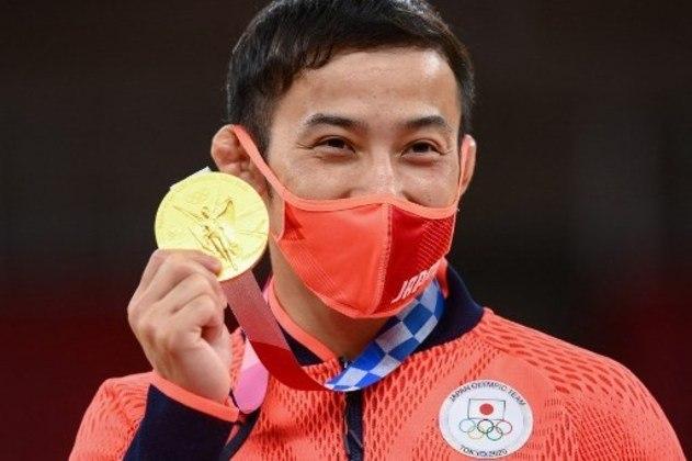 Takato Naohisa, do Japão, venceu Wang Wung Wei, de Taipei, e garantiu o lugar mais alto do pódio no judô masculino.