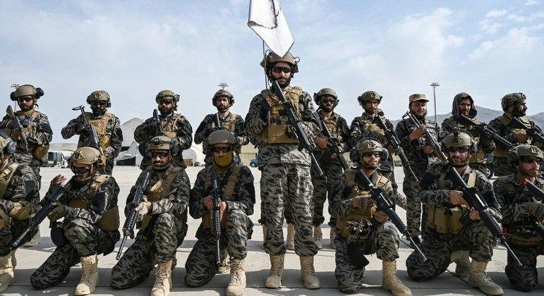 """As forças especiais talibãs, chamadas """"Badri 313"""""""