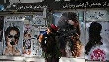 Fotos de mulheres são vandalizadas em Cabul, capital do Afeganistão