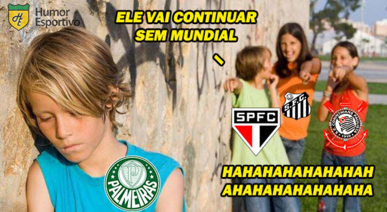 Talvez a piada que mais se repita no futebol brasileiro: 'O Palmeiras não tem Mundial'