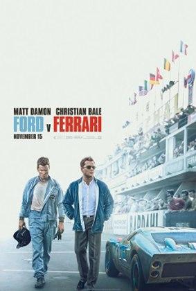 Também no mundo do automobilismo, o filme 'Ford v Ferrari' (2019) conta a história de uma equipe de engenheiros e designers estadunidenses, liderada pelo visionário automotivo Carroll Shelby e seu motorista britânico Ken Miles, interpretados por Matt Damon e Christian Bale.