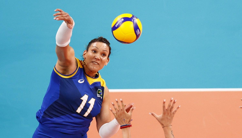 Tandara, maior pontuadora entre as brasileiras, com 19 acertos