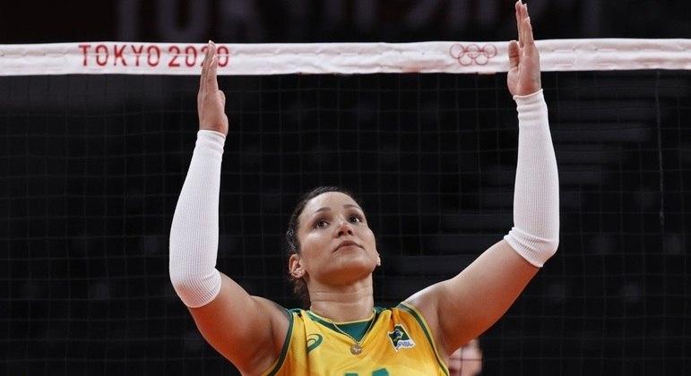 Tandara foi suspensa e desfalca o Brasil nos últimos dois jogos em Tóquio