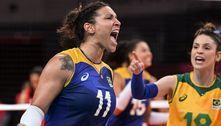 Em duelo de invictos, Brasil bate Sérvia no vôlei feminino por 3 a 1
