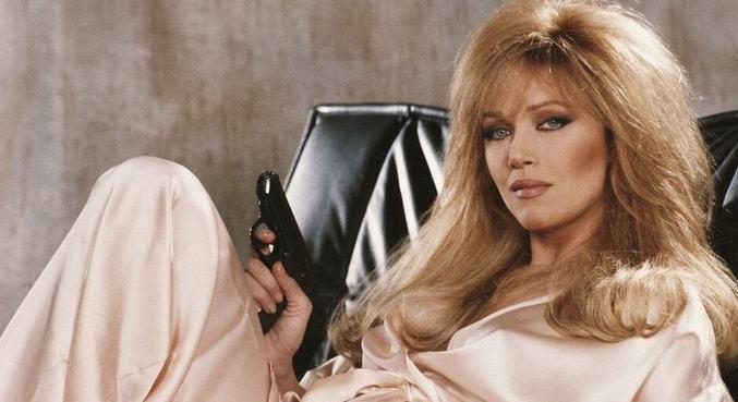 Tanya Roberts como a personagem Stacey Sutton, em '007 - Na Mira dos Assassinos'