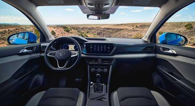 Interior do Taos divulgado nos Estados Unidos: será fabricado em Puebla, no México com motor 1.5