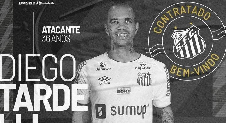 Santos anunciou Diego Tardelli na tarde desta segunda-feira (23)