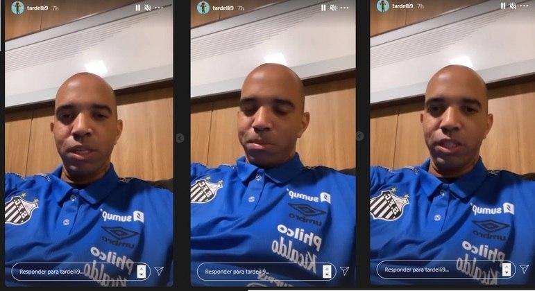 Diego Tardelli relatou o que aconteceu após o jogo do Santos contra o Athletico-PR