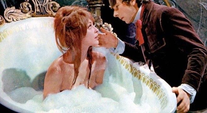 """Sharon Tate e Polanski, em """"A Dança dos Vampiros"""""""