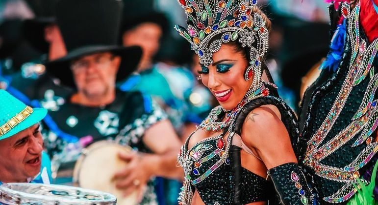 Modelo foi um dos destaques da Águia de Ouro, em 2020, no Carnaval de São Paulo