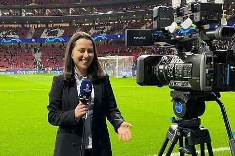 Tatiana Mantovani, repórter do canal TNT em Madri