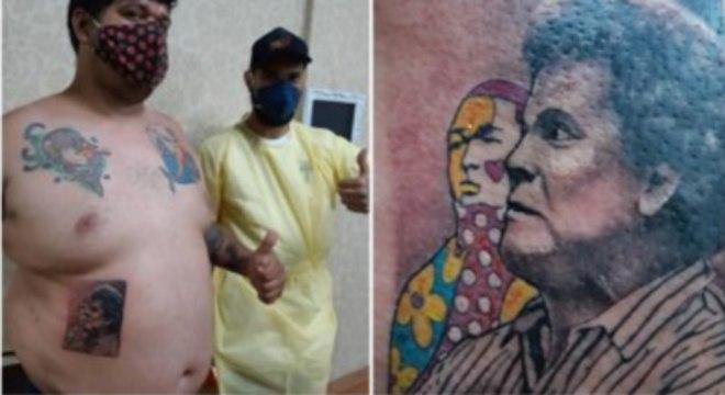 Youtuber faz tatoo de 'Romero' assustado com obra quebrada