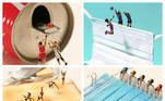 Os Jogos Olímpicos de Tóquio 2020 serviram de inspiração para o mais novo trabalho do artista japonêsTatsuya Tanaka. Ele recriou cenas de diversas modalidades esportivas usando bonecos em miniatura nas mais diferentes e impensáveis superfícies