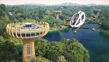Veículo voador e autônomo levará turistas até restaurante nas alturas
