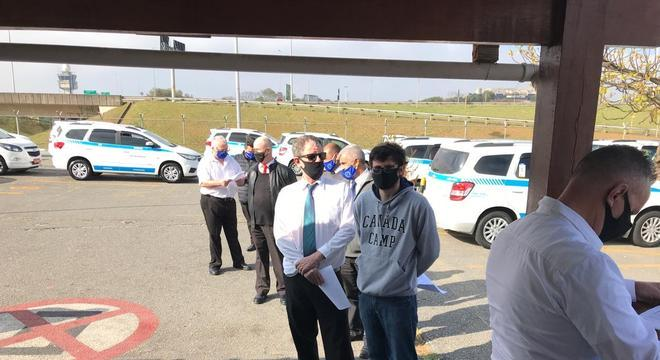 Cerca de 160 taxistas passaram pelo teste nesta terça (4)