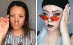 Muitos não acreditam no resultado final e supõem que as maquiadoras usam filtrosLeia mais:Olheiras coloridas são a nova tendência de make entre as jovens