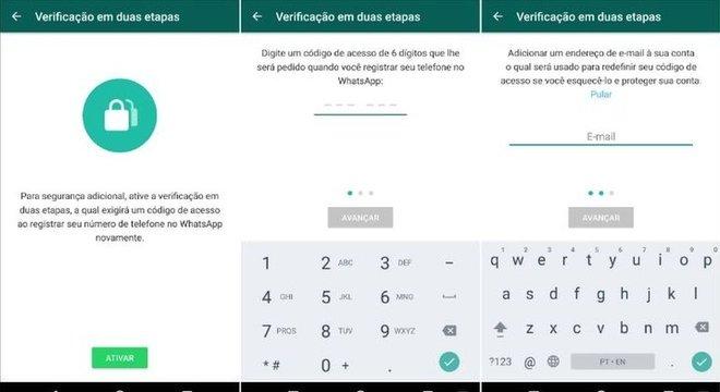Como ativar verificação em duas etapas no WhatsApp