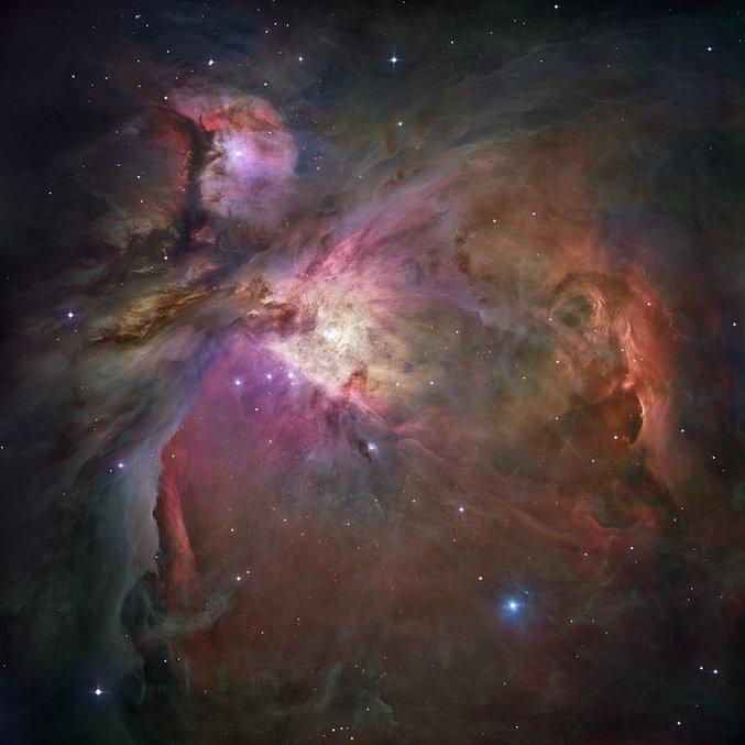 Nebulosa de Órion, na constelação do mesmo nome, onde estão as Três Marias