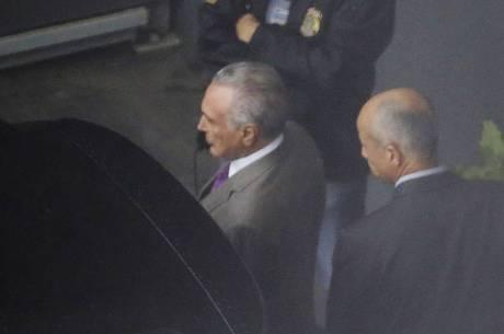 Temer foi preso na quinta-feira (21)