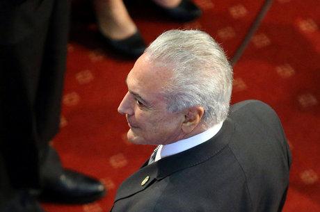 Temer durante cerimônia de posse de Sebastian Piñera