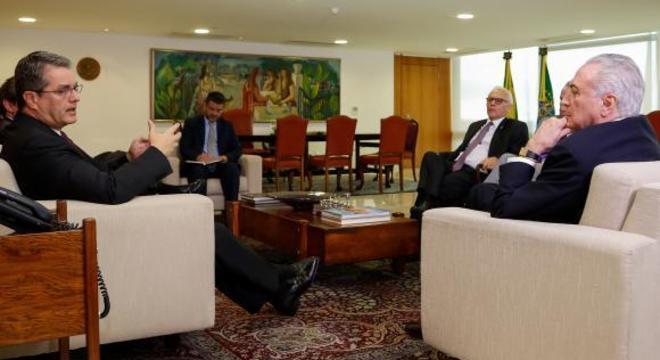Temer recebeu na segunda-feira o diretor-geral da OMC, Roberto Azevêdo