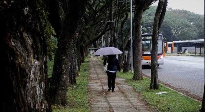 Passagem de frente fria faz tempo mudar em São Paulo