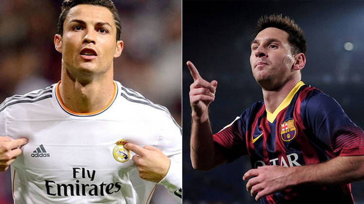 Temporada 2013/2014 - Cristiano Ronaldo (Real Madrid) 47 jogos oficiais e 51 gols x Messi (Barcelona) 46 jogos oficiais e 41 gols