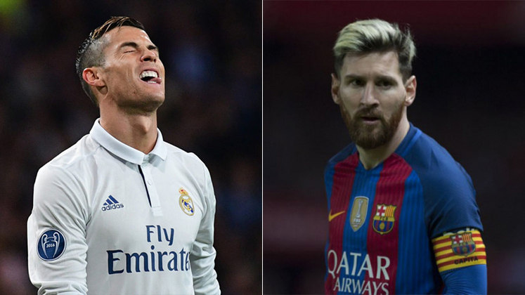 Temporada 2016/2017 - Cristiano Ronaldo (Real Madrid) 45 jogos oficiais e 42 gols x Messi (Barcelona) 52 jogos oficiais e 54 gols