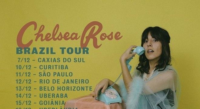 Chelsea Rose anuncia shows no Brasil com novo clipe cantado em português