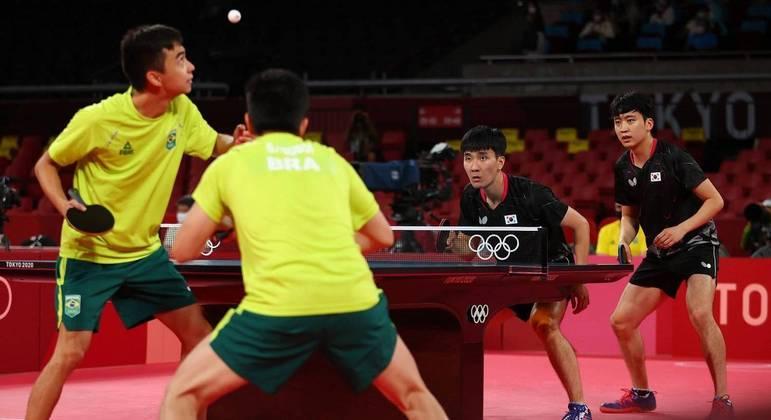 Brasil perdeu para a Coreia do Sul na disputa por equipes