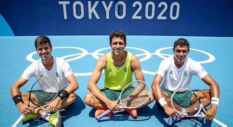 João Menezes, Marcelo Melo e Thiago Monteiro jogam os torneios de tênis