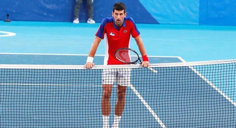 Djokovic desistiu de disputar a medalha de bronze nas Olimpíadas de Tóquio