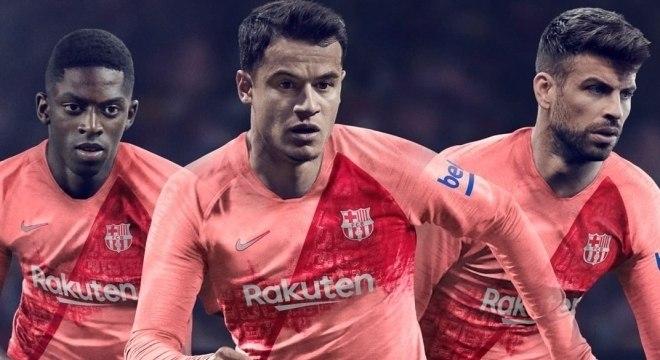 Barcelona lança terceiro uniforme rosa para temporada 2018 19 ... 78d3b38e24ceb