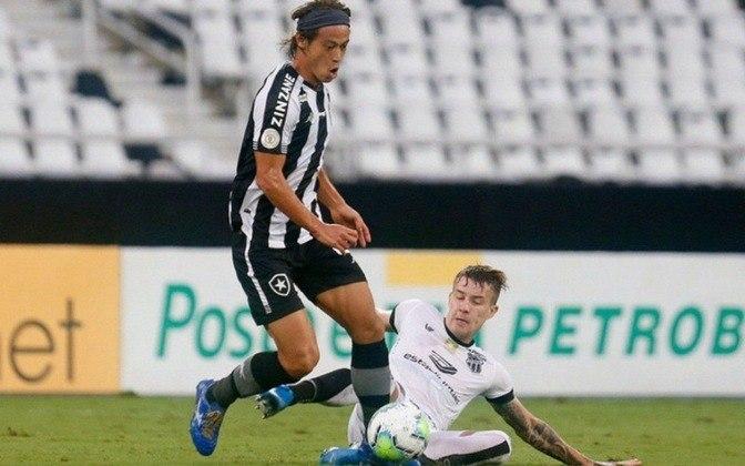 Terceiro e último gol - No dia 31 de outubro, Honda marcou o seu terceiro e último gol com a camisa do Botafogo diante do Ceará, no estádio do Nilton Santos. Mais uma vez de pênalti, como no primeiro gol, o japonês foi tranquilo para a bola e bateu com categoria. A partida, válida pela 19ª rodada do Brasileirão, terminou empatada por 2 a 2.