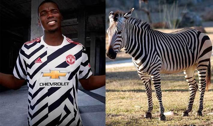 Terceiro uniforme do Manchester United, listrado em preto e branco, foi comparado a zebra (Setembro/2020)