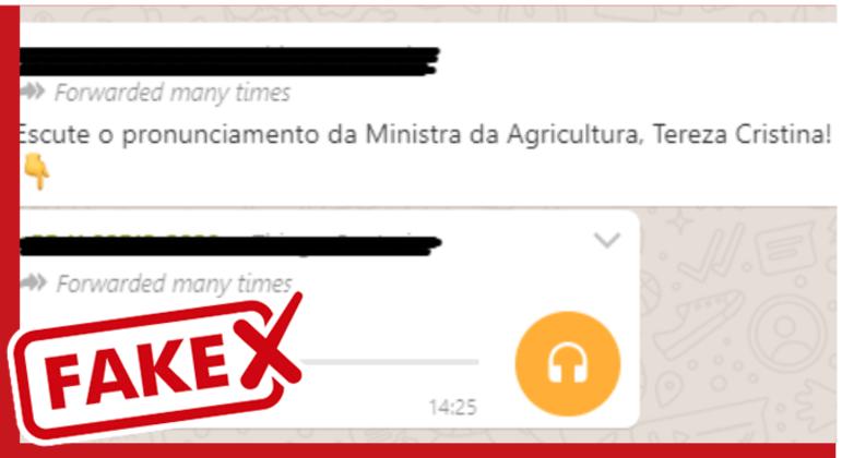 Extraído de aplicativo de mensagens