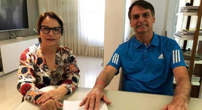 Tereza Cristina e Jair Bolsonaro