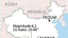 Terremoto de magnitude 6,1 na província chinesa de Yunnan