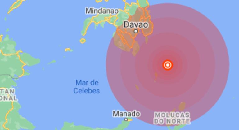 Tremor de terra teve o epicentro no fundo do mar