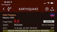 Terremotos de grande magnitude atingem a região oeste do Haiti