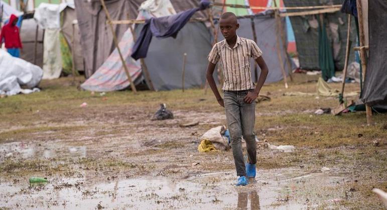 Mais de meio milha de crianças foram afetadas pelo terremoto que atingiu o Haiti