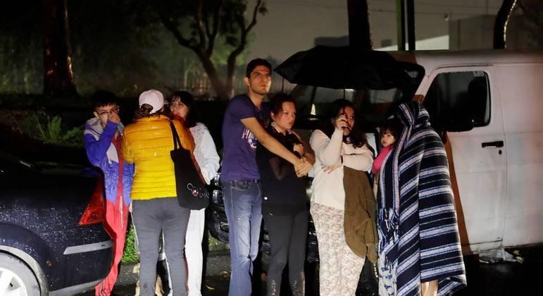 Moradores da Cidade do México ficaram assustados com o terremoto