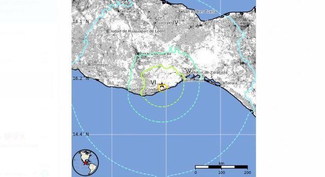 Epicentro do tremor foi próximo ao litoral de Oaxaca