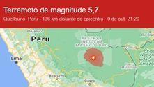 Peru: Terremoto de magnitude 5,7 é sentido por moradores do Acre