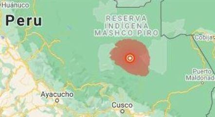 Terremoto ocorreu em região de mata no Peru