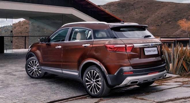 O primeiro já confirmado é o SUV Territory que deve chegar no primeiro semestre importado da China