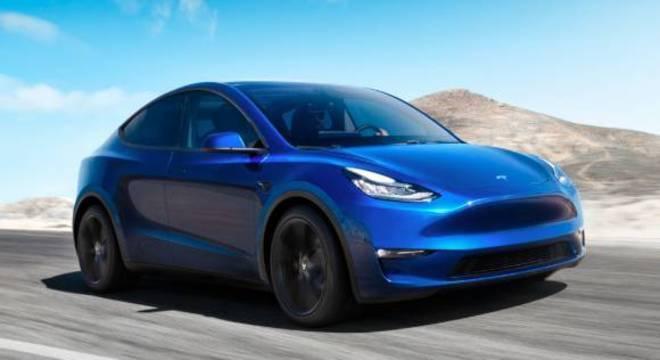 Tesla revelou seu veículo elétrico utilitário esportivo Model Y na quinta (14)